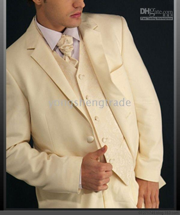 Mens Wedding Suits Off White , Western Style Wedding Suit , Groom ...