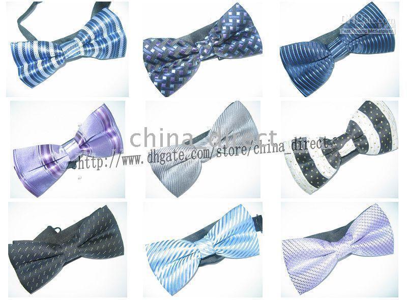 satin necktie 2019 - Tuxedo PreTied Black Bow Tie Tie Necktie Satin Adjustable120pcs lot new design #1774 cheap satin necktie