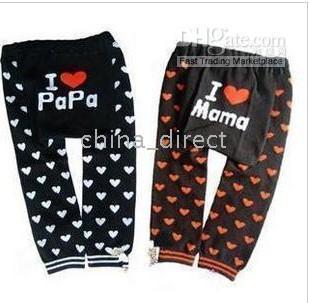 Wholesale Love Mama Papa Pants - Busha Baby Leggings PP pant toddler Tights pant Leg warmers I love PAPA MAMA 38pair lot