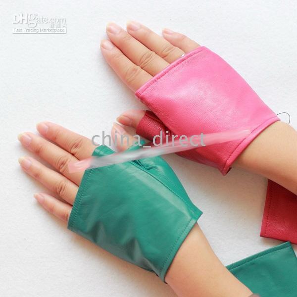 ingrosso guanti in pelle di capra-guanti in pelle scamosciata senza dita mezzi guanti in vera pelle guanti in pelle 20pairs / lot # 1513
