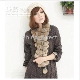 Wholesale Fashion Fur Stole - rabbit fur scarf fur scarves wrap stole shawl wraps 13 pcs lot New arrival