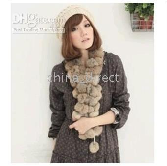 rabbit fur scarf fur scarves wrap stole shawl wraps 13 pcs/lot New arrival