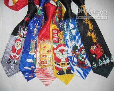 Wholesale Polyester Christmas Necktie - Christmas tie Men's Tie gift christmas theme necktie tie X-mas 33pcs lot