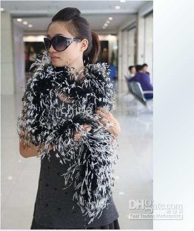 Wholesale Black Ostrich Boa - Ostrich Feather Boa Feather Scarf Ostrich Feather Boa for Special Occasions 10 pcs lot