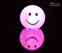 éclairage d'ambiance bricolage Promotion Gros 10pcs / lot visage souriant lampe cadeau multicolore LED changeant humeur lumière sourire
