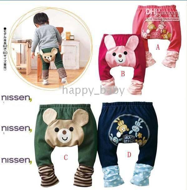 Wholesale Nissen Short Pants - 12PCS NISSEN Baby PP pants,Cartoon trousers tights shorts pants legging leggings for baby children infants Toddlers,4 colors