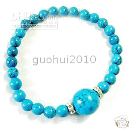 Wholesale Turquoise Bracelet Stretchy - AAA Beautiful Turquoise Beads Stretchy Bracelet