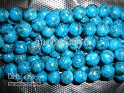 "Wholesale Turkey Turquoise Beads Wholesale - 8mm Blue Turkey Turquoise Gems loose beads 15"",AAA+"