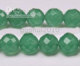 Wholesale Natural Emerald Gemstone Beads - 10mm Natural Emerald Faceted Loose Beads Gemstone 15""
