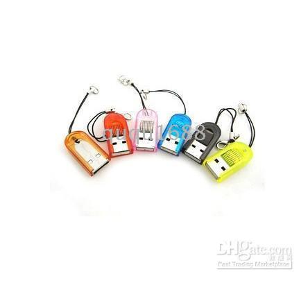 Wholesale Tiny Usb Reader - 2103 700pcs 1lots USB 2.0 Tiny Micro SD T-Flash TF Memory Card Reader New
