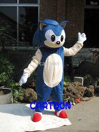 Wholesale Sonic Costumes For Adults - New SONIC Mascot costume Fancy Dress Adult Suit For Halloween ! Free S H