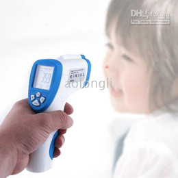 Wholesale Temperature Gun Infrared Thermometer - 2016 New Measuring body temperature Non Contact Infrared Digital Thermometer Gun with Laser Sight free shipping