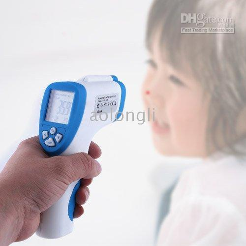 Wholesale Digital Infrared Ear Thermometer - 2016 New Measuring body temperature Non Contact Infrared Digital Thermometer Gun with Laser Sight free shipping
