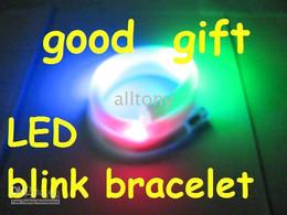 Wholesale Colorful Blinking Led - Fashion LED Blinking dazzle Bracelet Collier clignotant flash Colorful flashing light Nouveau 50PCS