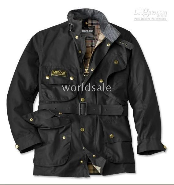 Barbour International Jacket For Men Brown Oversized Coat Unique ...