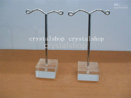 Wholesale Jewellery Stand Earrings - Wholesale Free Shipping 40 pcs crystal Metal Earring Display Holder Stand Trees Jewellery