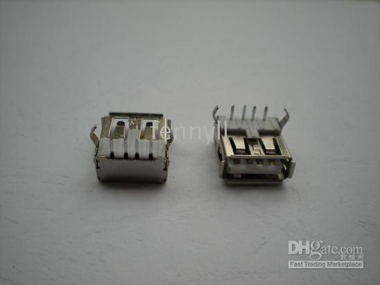 USB 4Pin DIP 90 Degree Female Connector, For PC Use 20 pcs per lot