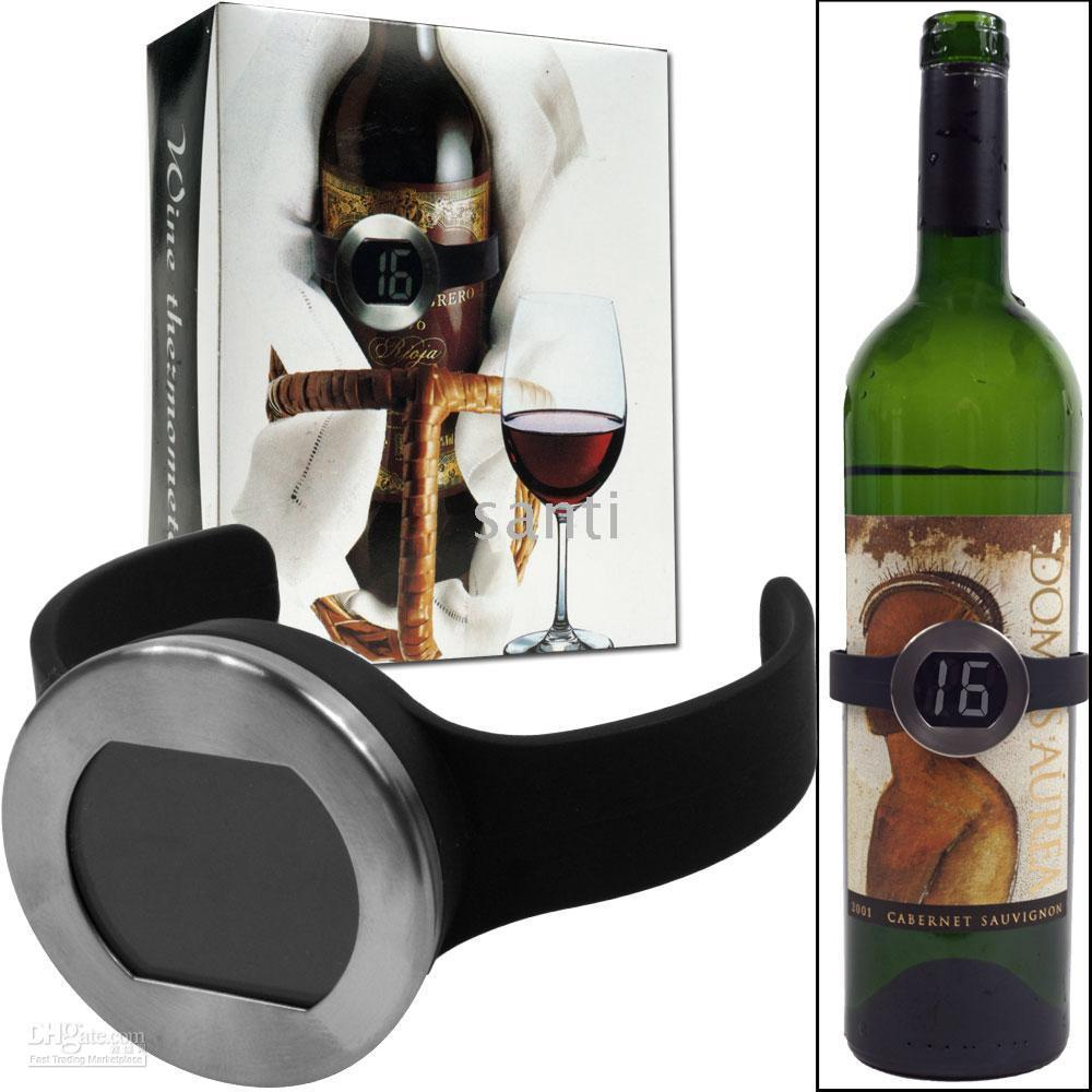 Wholesale Wine Bottle Thermometer - Wine Bottle Thermometer w  Digital Electronical LED Display 5pcs,10pcs lot