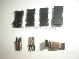 enchufes de banana de cobre Rebajas Mini enchufe USB, macho, 5 pines, 8 pines, 10 pines, conector de plástico, 20 pcs por lote