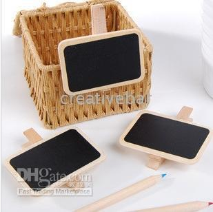 $enCountryForm.capitalKeyWord Australia - Special New Korean Countryside Lovely Wooden Stationery Wooden Small Blackboard Clip   Memo clip