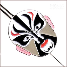 Wholesale Cheap Gift Business - Cheap Business gift Bookmarks China Peking Opera mask metal Bookmark with Packing box 5pcs lot Free