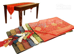 Wholesale Table Covers Cheap Wholesale - Cheap Patchwork Table Runner Cover Cloth Chinese Style Silk Brocade Coffee Table Cloth for Wedding Festive Party Home Decoration 10pcs lot
