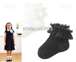 Wholesale Ankle Skid Socks - NEW Baby Anti-skid Infant Socks Girls cotton high knee socks bobbysocks lace ankle socks