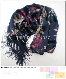 Wholesale Cheap Scarves China - New Blue Mens Long 100% Silk Scarf Cheap China Bamboo Fashion Double Layer silks Shawl 1pcs mix Free