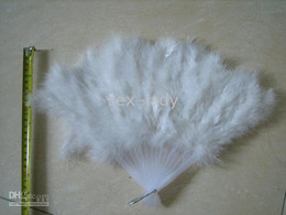 Wholesale Costume Feather Fans - Feather Fan Costume Halloween Party costume party fun HAND Fan 50pc lot