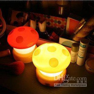 Wholesale Press Down Night Light - 10pcs lot,Led Colorful Mushroom Press Down   Touch Lamp Night Light