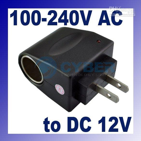 Wholesale Ac Dc Power Socket - hotselling 100V-240V AC to DC 12V US Car Power Adapter,Cigarette Lighter Socket 50pcs