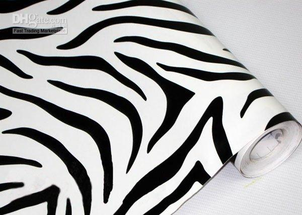 Wallpaper Zebra Stripe Art Decals Wall Xft Coverage Sq - Zebra stripe wall decals