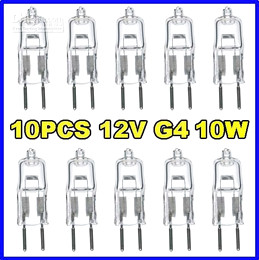 Wholesale Halogen Pin Bulbs - 10pcs 12V 10W G4 base JC bi pin halogen light bulbs lamp lamps
