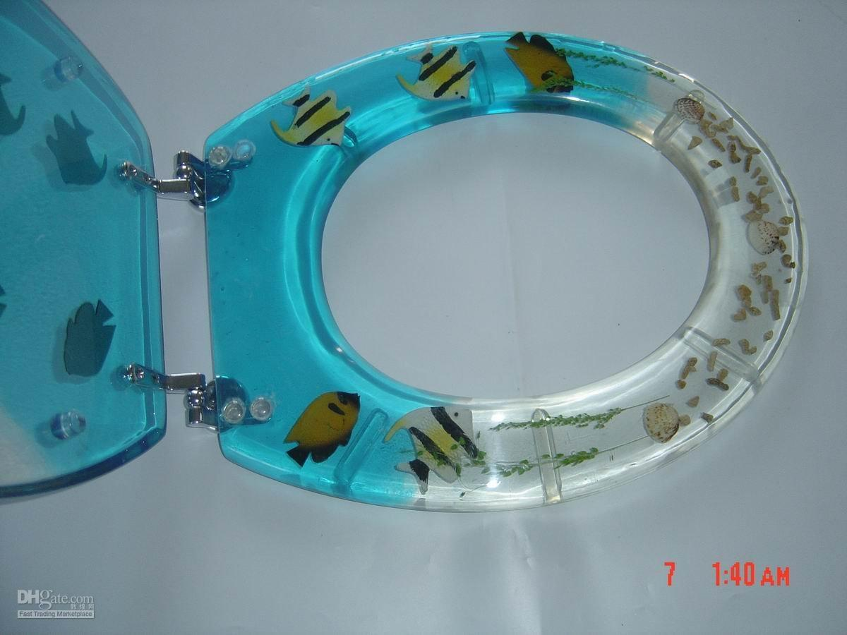 Fish tank toilet - The Polyresin Toilet Seat Makes A Totally Clear Transparent Solid That Is Very Strong And Durable We Are Always Using Plastic Toilet Seats And Acrylic