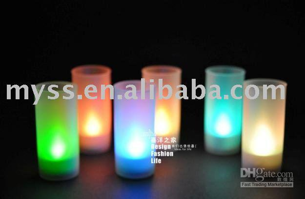 Wholesale Magic Candle Led - Magic Electric Led Blow Color changing Candle Light Lamp Lighting Light Fixtures Creative Gift