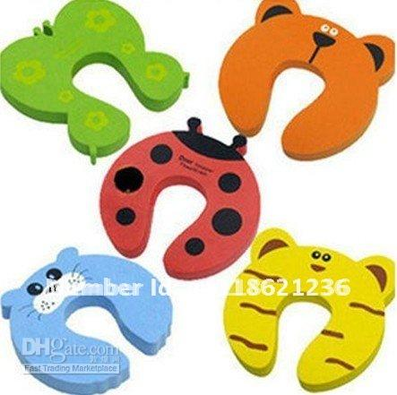 Baby Gates Canada - 30pcs Child kids Baby Animal Cartoon Door Jammers Stopholder lock Safety guard Finger Protect