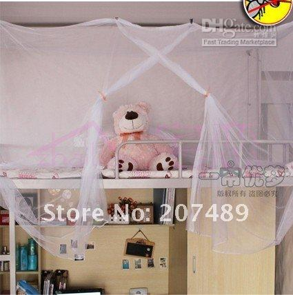Wholesale 2pcs folding nylon mesh stent Students mosquito net classic white encrypted dormitory nets