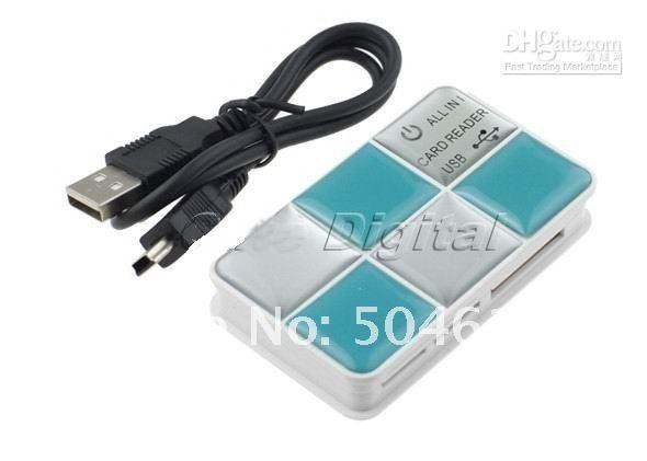 Envío libre al por mayor 1 pedazos NUEVA USB 2.0 CF / SD / XD / M2 / TF / lector de tarjetas de memoria de MS / escritor
