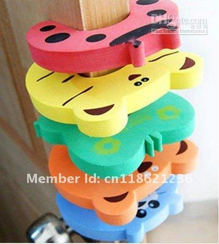 Baby Gates Canada - 130pcs Child kids Baby Animal Door Jammers stopper holder lock Safety guard Finger Protect
