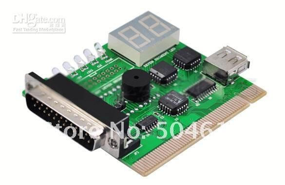 Wholesale Free Shipping New USB LPT PCI Laptop PC Analyzer Tester POST Card 2-Digit