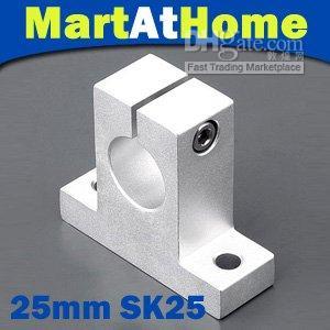 4pcs MAH Chrome SK25 SH25A supporto per asta lineare supporto cuscinetto XYZ Table CNC # SM137