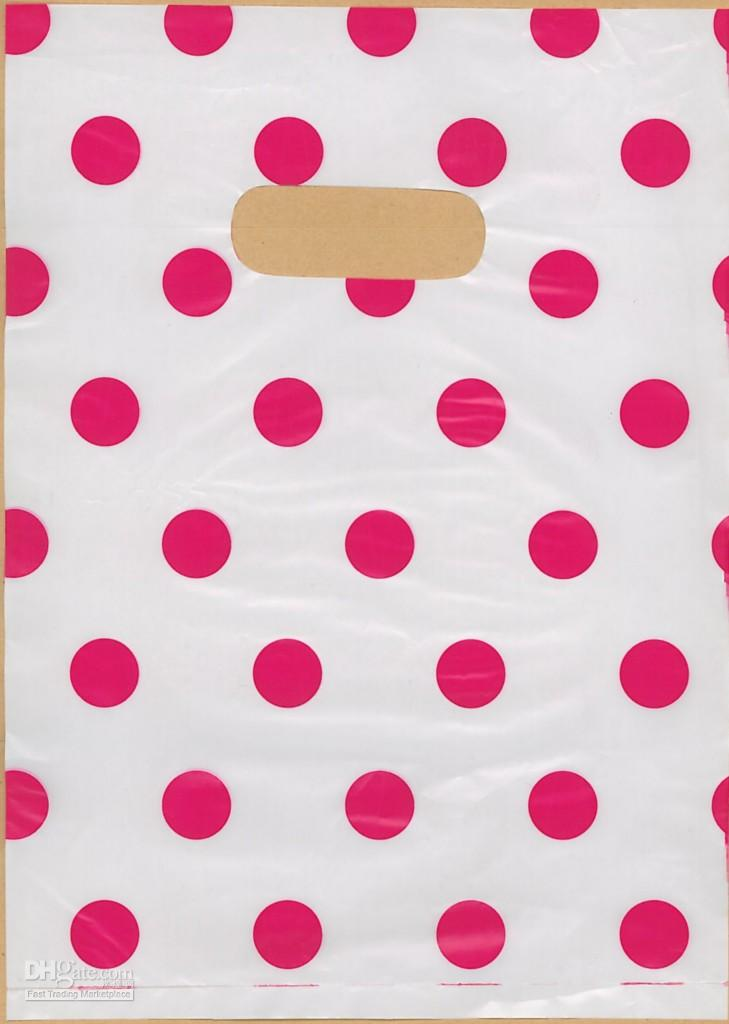 100 Polka Dot Plastic Shopping Gift Bags 7x10 P86 Discount Gift ...