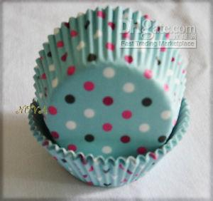 lovely cute 4.5inch 500 piece Colorful polka dot Bule Cupcake liners baking cup for wedding.