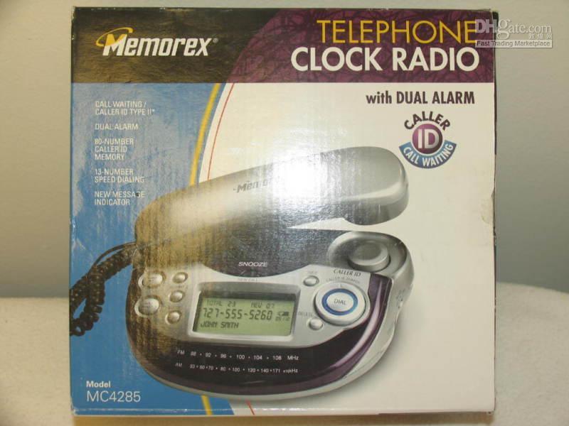 Bedside Memorex Phone Clock Radio 2 Alarm Caller Id C W