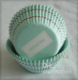 Wholesale Baking Stripes - fashion new brand 500pcs Turquoise Cupcake coffee stripes baking paper liner