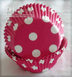 Wholesale Pink Cupcake Liners Polka Dot - lovely cute 500 Pink Polka Dot Cupcake liners baking paper cup cupcakes