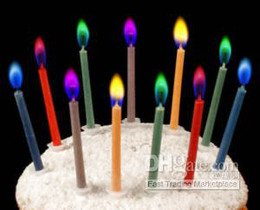 Wholesale Safe Candles - 6x Colored Candles safe Flames Party Birthday Cake