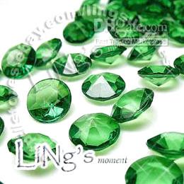 Wholesale Diamond Confetti 4ct - 500 Emerald Diamond Confetti 4CT Bridal Wedding Party