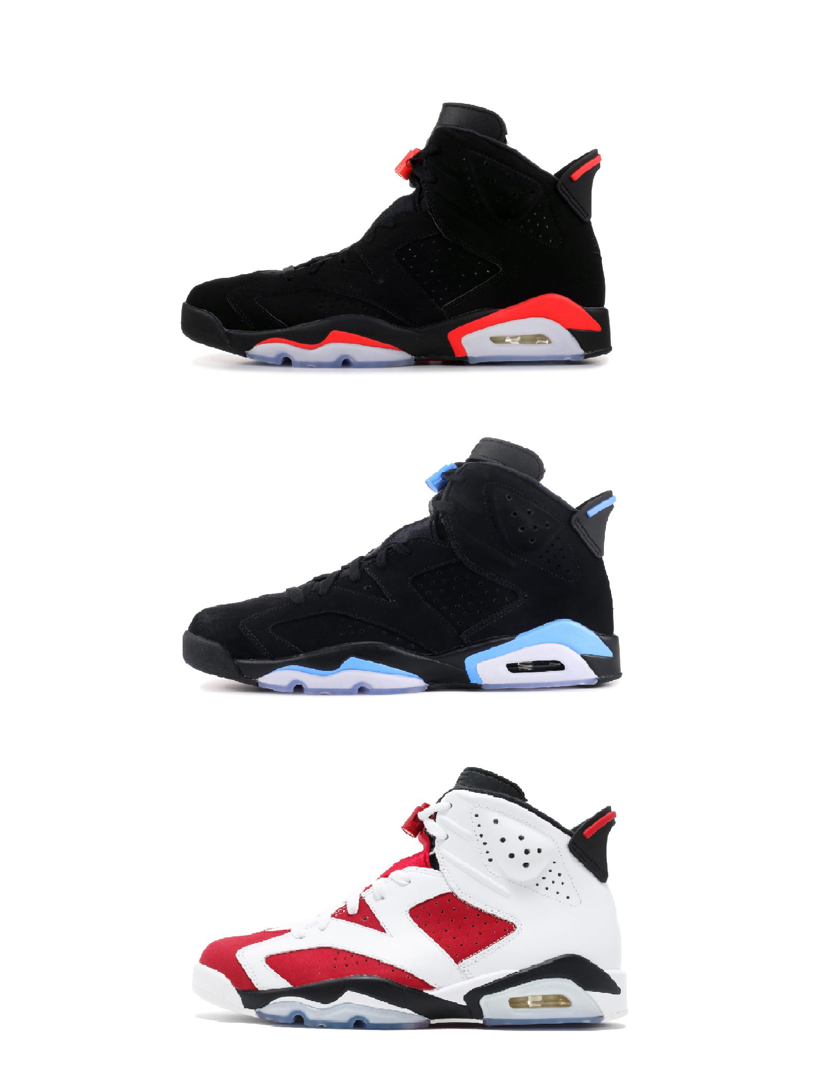 more photos e1cb6 10ac0 6 Carmine Basketball Shoes Classic 6s UNC Black Blue White Infrared Low  Chrome Women Men Sport Blue Red Oreo Alternate Oreo Black Cat Jordans Shoes  Sport ...