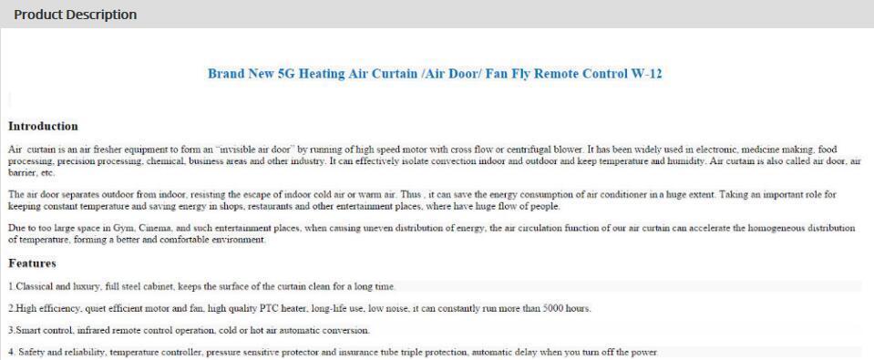 Curtains Ideas air curtains for restaurants : Brand New 5g Heating Air Curtain /Air Door/ Fan Fly Remote Control ...